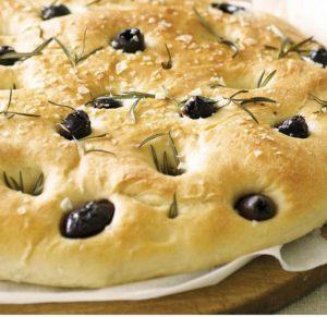 focaccia de olivas